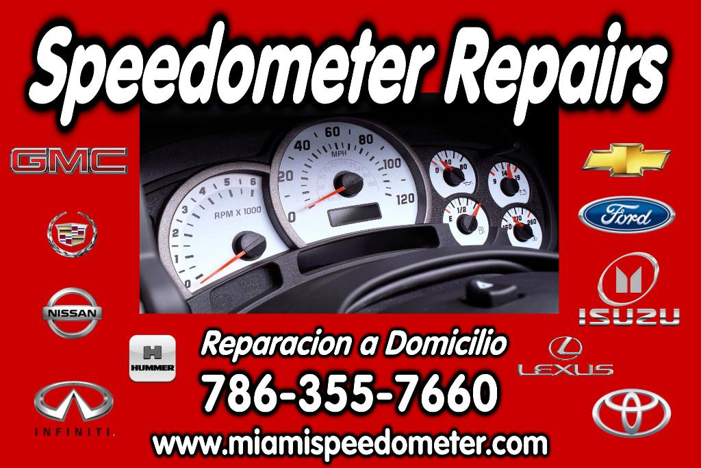 Miami Speedometer Repair Service - We're Mobile - Save Money
