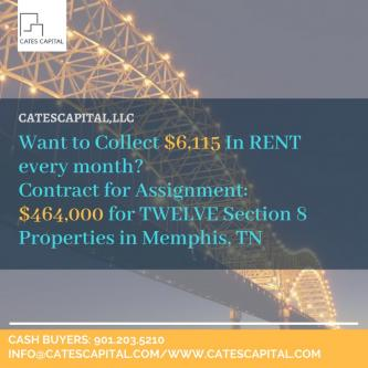 NEWEST DEAL! ONLY 464,000 for TWELVE Section 8 Properties in